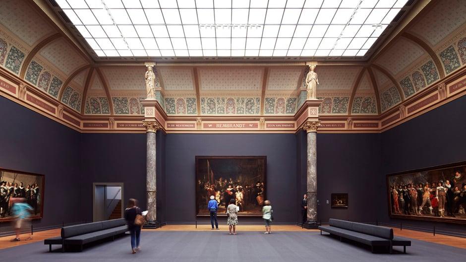 Das neue alte Rijksmuseum: Mithilfe historischen Archivmaterials schafften es die Architekten, den Räumlichkeiten ihre alte Schönheit zurückzugeben. Foto: Erik Smits