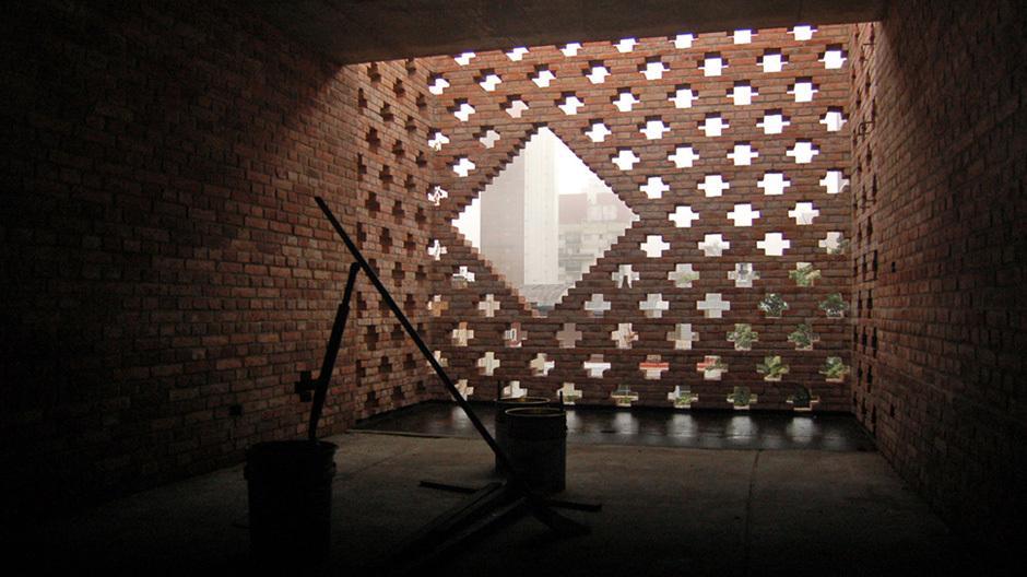 Argentinischer Pavillon:Haus des Architekten (Casa de Ladrillos)Diego Arraigada, Rosario, Argentinien