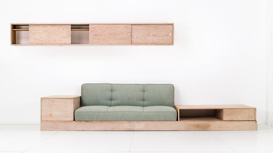 Wüsten-Minimalismus: Wohnzimmer-Einrichtung des Architekten Albert Frey von 1949. Foto: Andrew Nemiroski, Galerie Converso, New York