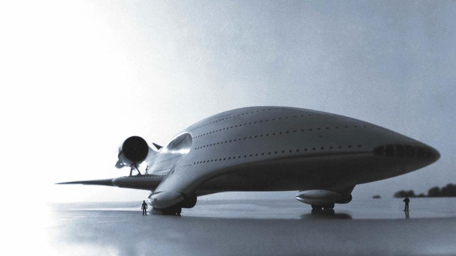 Studie für ein vieretagiges Flugzeug mit Platz für bis zu tausend Passagieren / 1977.