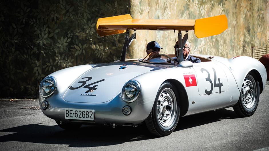 Porsche 550 RSmit extravantem Spoiler 1955