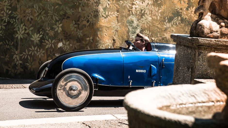 """Lurani Nibbo, entworfen und einst gefahren von Giovanni """"Johnny"""" Lurani Cernuschi (1935) und Gewinner des Publikumspreises des Concorso d'Eleganza 2017 (Foto: Petra Sagnak)"""