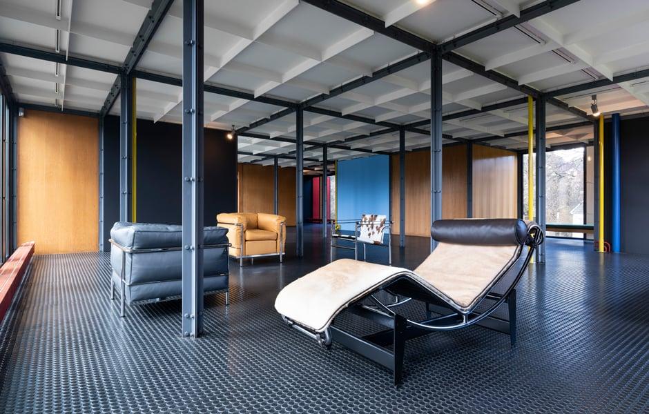 Loungebereich im 1. Stock, Pavillon Le Corbusier, 2018, Zürich, © ZHdK