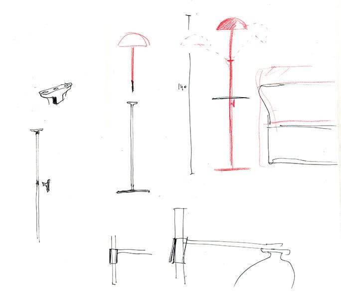 Entwurfskizzen von Inga Sempé, hier: W103 für Wästberg