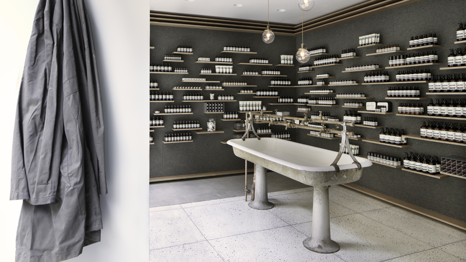 Meister des Corporate Design: Aesop, Store University Place, New York.
