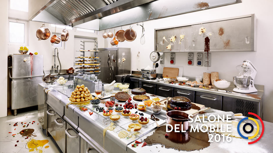 What a mess! Bei Franke wird die Küche endlich auch benutzt! Foto: Pietro Baroni