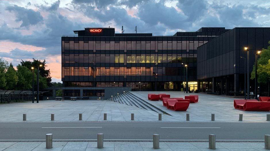 Auf dem Gebäude des Departements für Architektur der ETH Höngg in Zürich ist ein Mock-up des Performativen Hauses aufgebaut. Foto/ Copyright: ETH Zürich, Departement Architektur, Institut für Entwurf und Architektur
