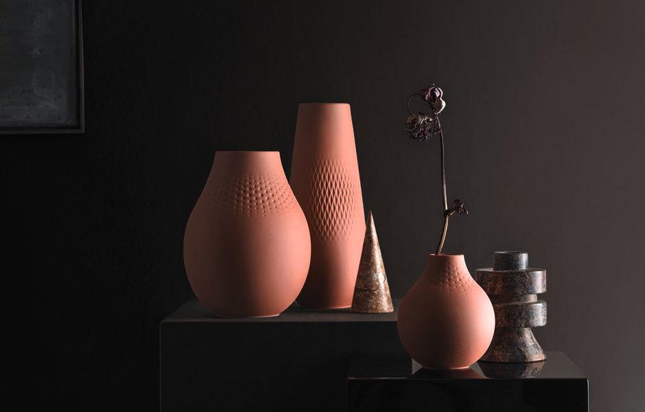 Vasenkollektion Collier im Terrakotta-Ton für Villeroy & Boch. Foto/ Copyright: Villeroy & Boch