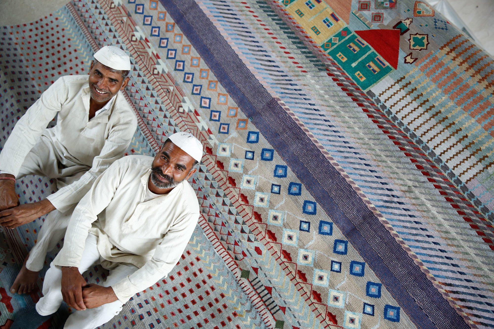 Trend #1: Ethno StyleMaking-of ... Jaipur Rugs. Foto/ Copyright: Jaipur Rugs