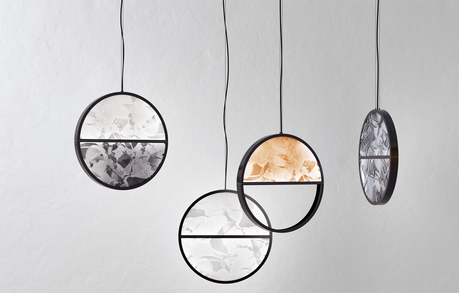 TRANSPARENZ & KUNSTFERTIGKEIT: GLASScheiben leuchten: Boris Klimek & Lenka Damová, Geometric, Brokis. Foto/ Copyright: Brokis
