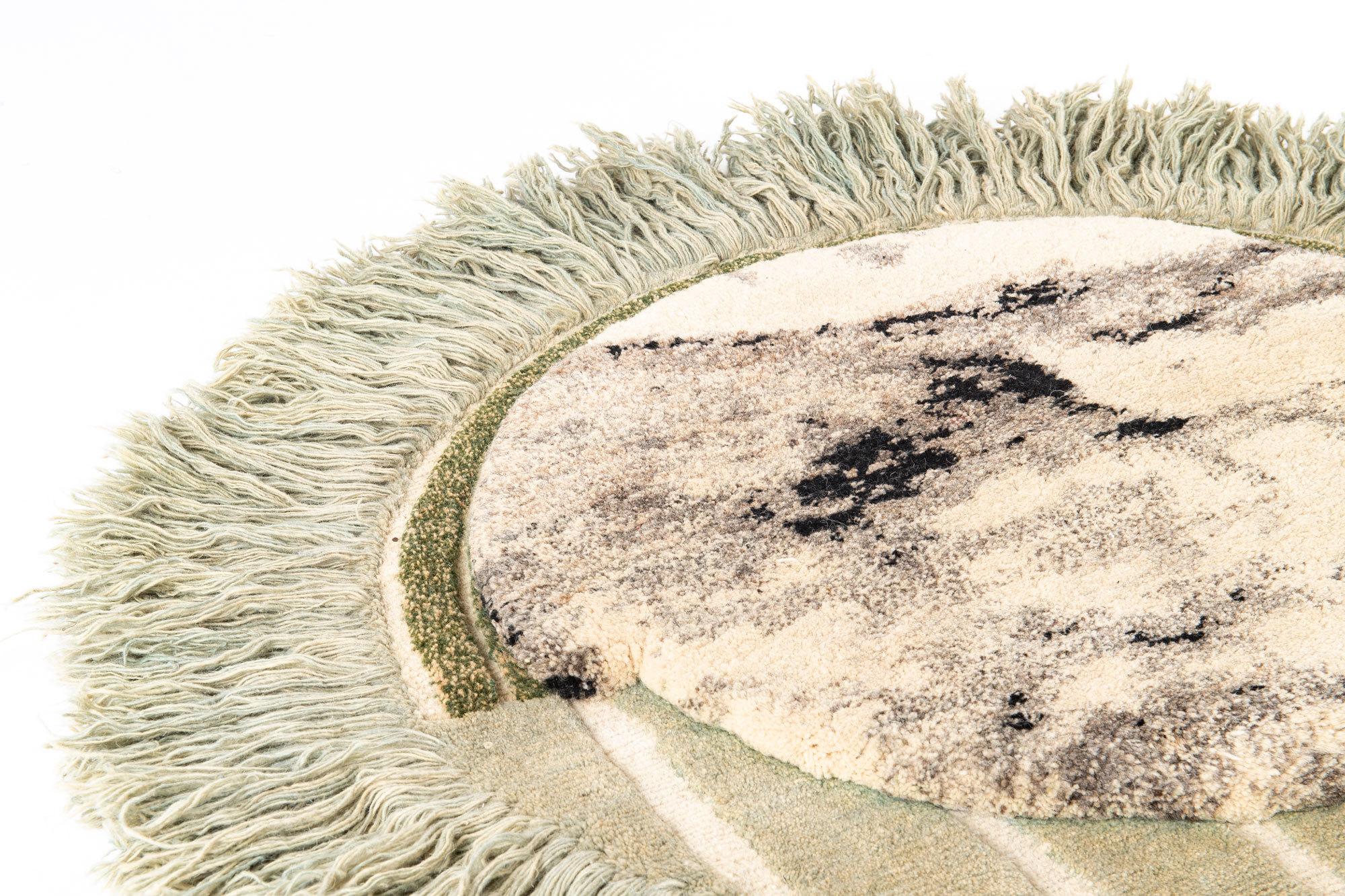 Mint Island, Detail. Die Teppiche von Lyk Carpet werden auf Bestellung entworfen und gefertigt, Massenware gibt es nicht. Foto/ Copyright: Lyk Carpet