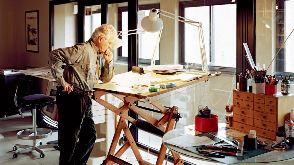 Pierre Paulin in seinem Studio