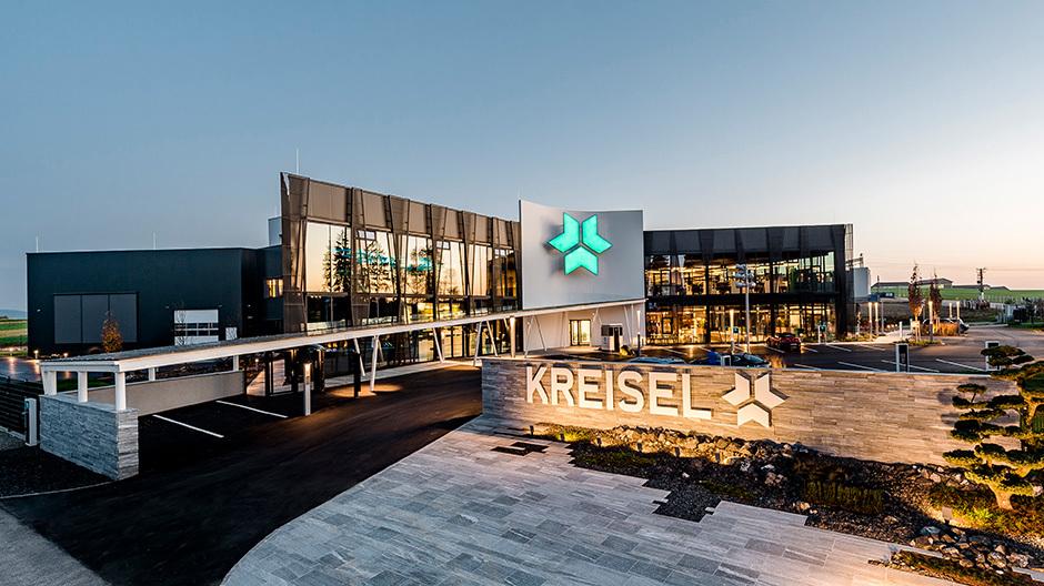 Markante Konturen: Das neue Forschungs- und Entwicklungszentrum und Zentrale von Kreisel Electric in Rainbach. Foto: Martin Pröll