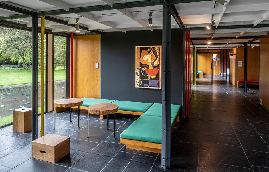 KEINE LANGEWEILE! IM MUSEUMPavillon Le Corbusier, Innenansicht. Foto/ Copyright: Pavillon Le Corbusier