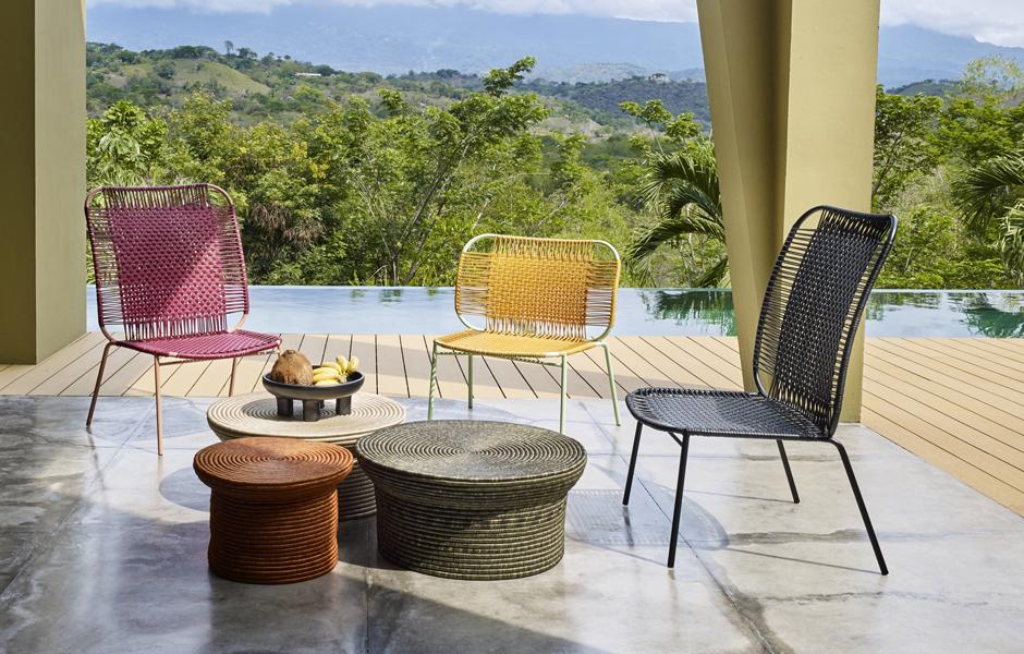 Loungesessel aus der Cielo Familie von Sebastian Herkner für Ames. Foto: Ames