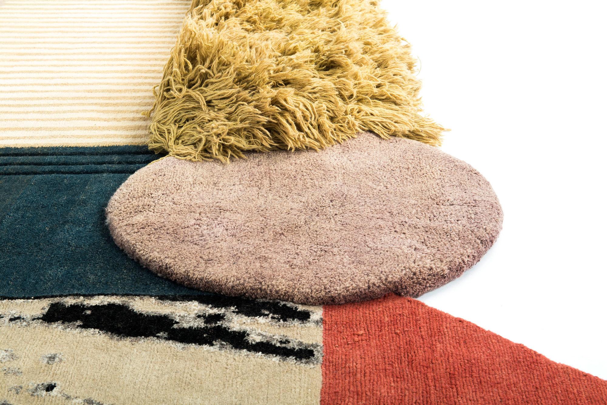Medley von Lyk-Carpet-Teppichen, Detail. Foto/ Copyright: Lyk Carpet
