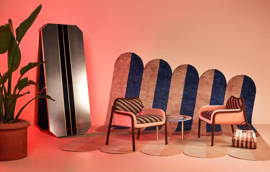 Siebzigerjahre-FeelingKollektion Fendi Back Home von Cristina Celestino für Fendi & Fendi Casa. Foto: Fendi