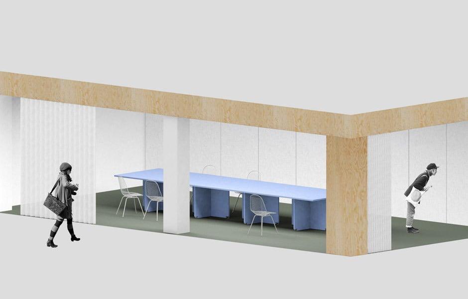 Für die Pirol Studios in Berlin-Schöneberg, wo sich auch das Atelier von Loehr befindet, entwickelten die Designer gerade ein Konferenzraumkonzept mit rollbaren Tischen. Foto/ Copyright: Loehr