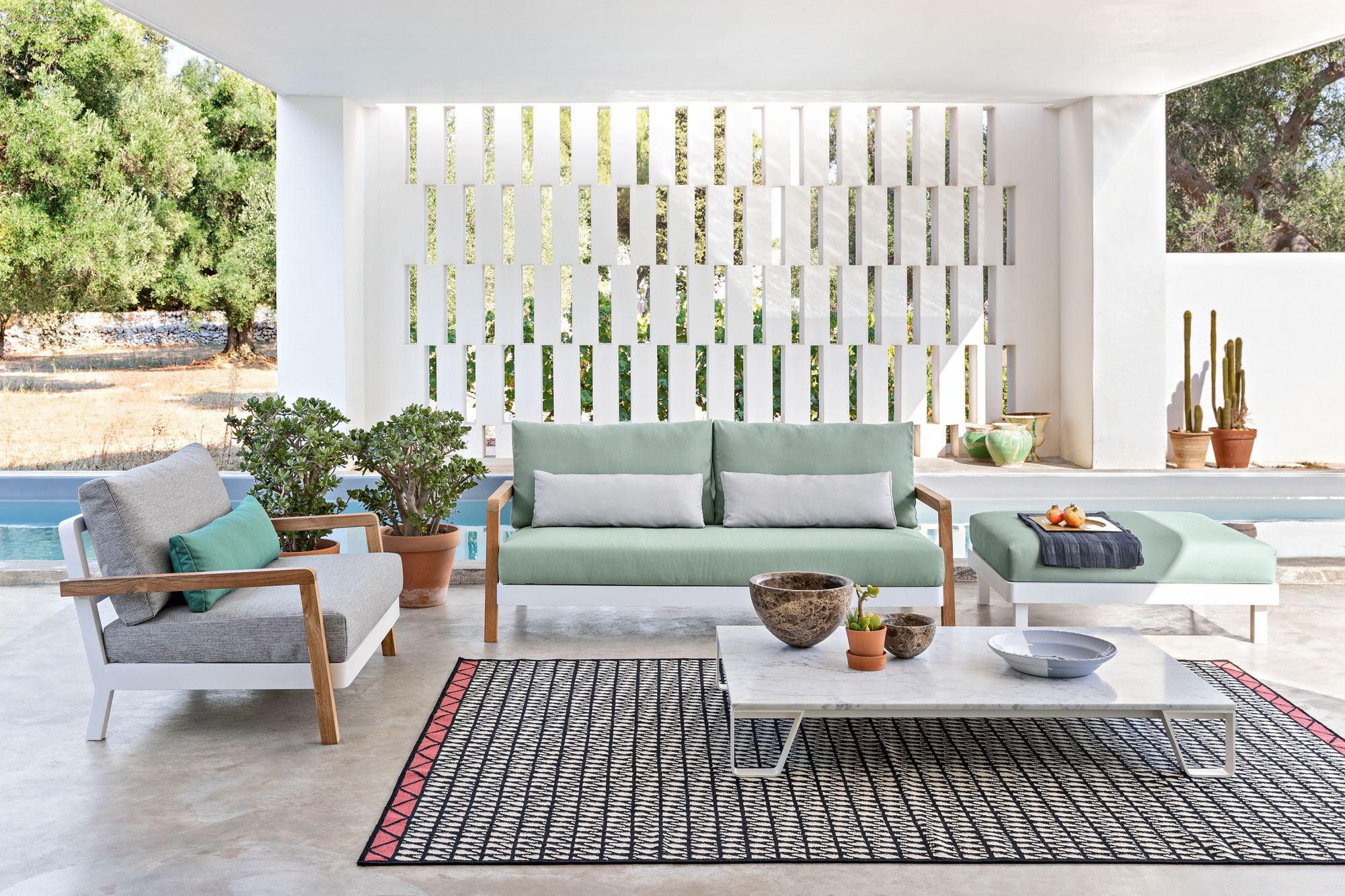 Outdoor-Möbel & Outdoor-KüchenPaola Navone, Sofa Win, Gervasoni. Foto/ Copyright: Gervasoni