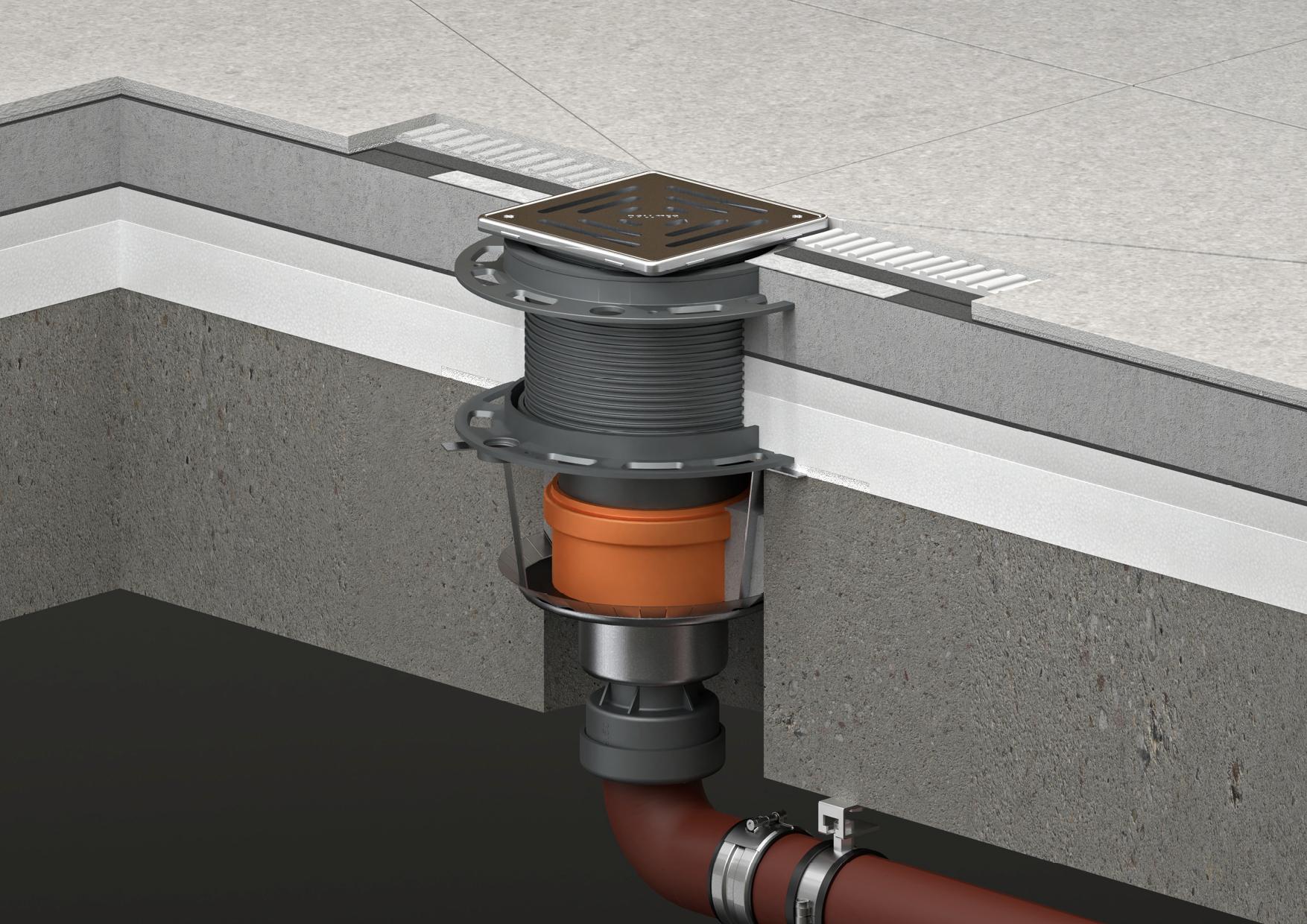 Innovatives System für die Punktentwässerung: DallDrain von Dallmer. Foto:Dallmer GmbH + Co. KG