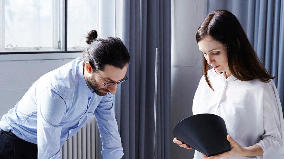 Enrico Fratesi und Stine Gam in ihrem Studio in Kopenhagen, Foto: Petra Kleis