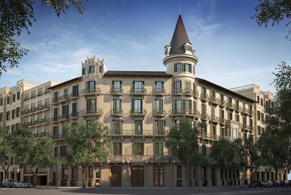 Das sechsgeschossige Gebäude mit 7.700 Quadratmeter Nutzfläche steht seit 1979 unter Denkmalschutz. Nachdem es über mehrere Jahre ungenutzt blieb und Vandalismus ausgesetzt war, ist es aufwändig restauriert und in 26 Wohnungen mit großzügigen Gemeinschaftsräumen transformiert worden.Foto: Estudio Vilablanch & Bonavista Developments