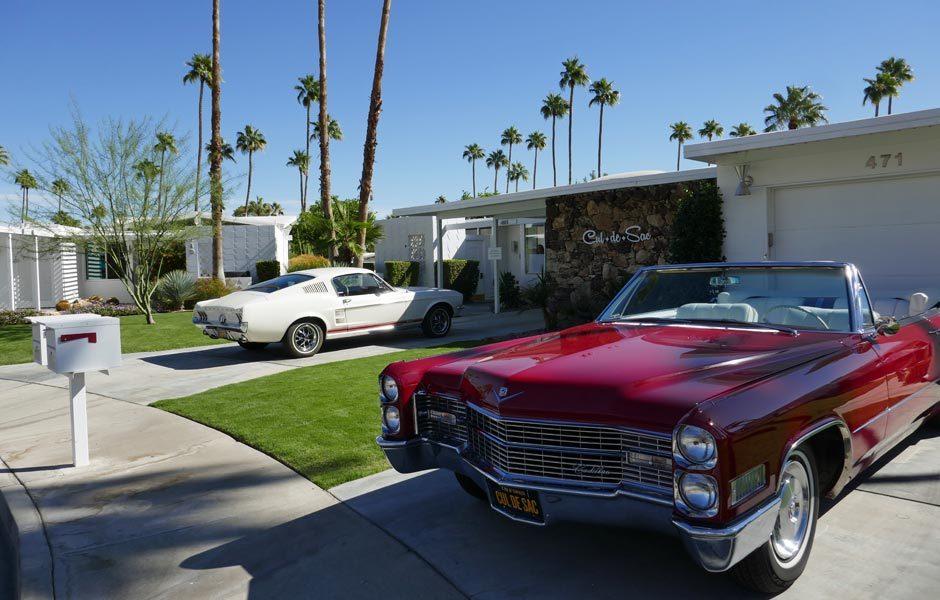 SIEDLUNGEN UND HÄUSERCul-de-Sac Experience in den Canyon View Estates #4 von Palmer & Krisel (1962) im Stil der Sixties, Palm Springs. Foto: Claudia Simone Hoff