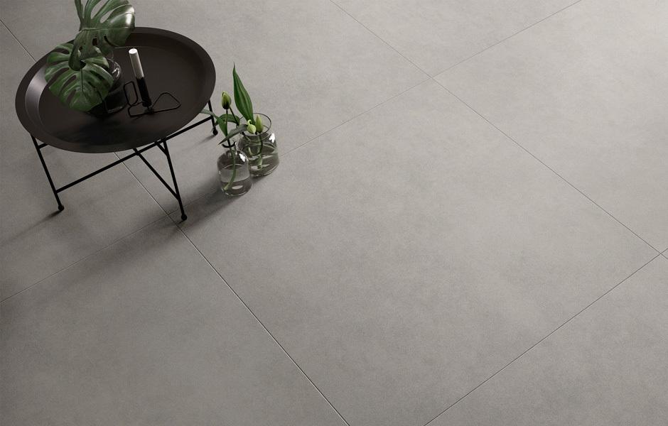Optima ist ein großformatiger Alleskönner aus Keramik in Naturstein- und Betonoptiken.