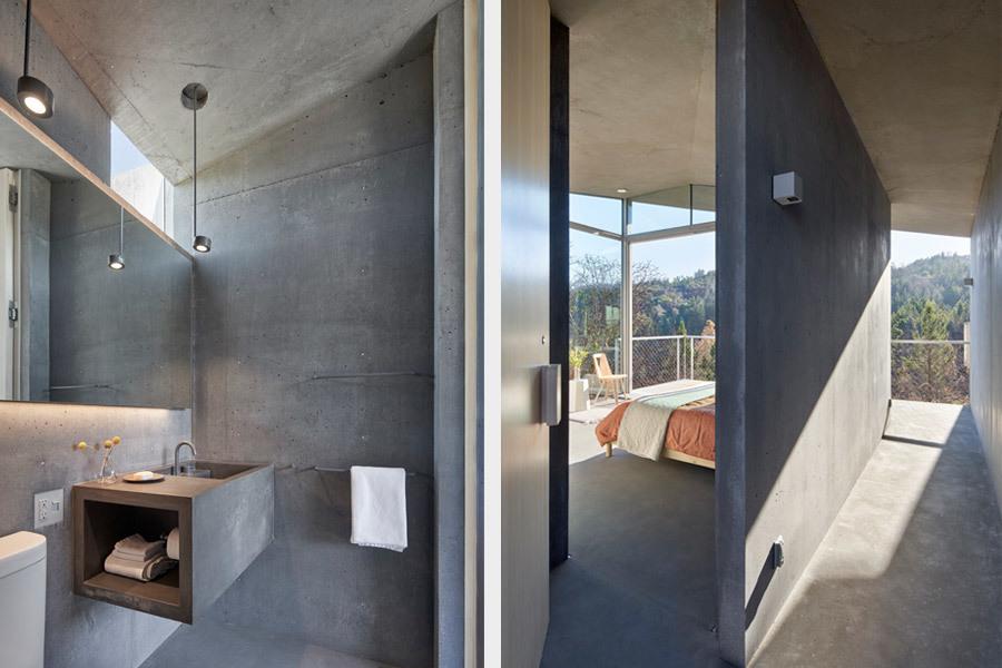 Innen: Bad und Schlafzimmer. Foto: Bruce Damonte