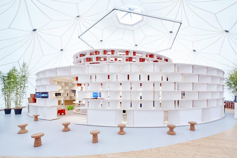 Kéré Architecture: Vitra & Camper Pop-Up Project, 2015, Foto: Eduardo Perez © Vitra