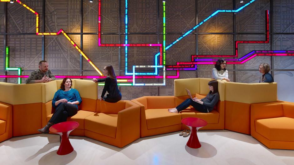 Motorola-Headquarter in Chicago mit dem Cor-Sitzmöbel Scope.
