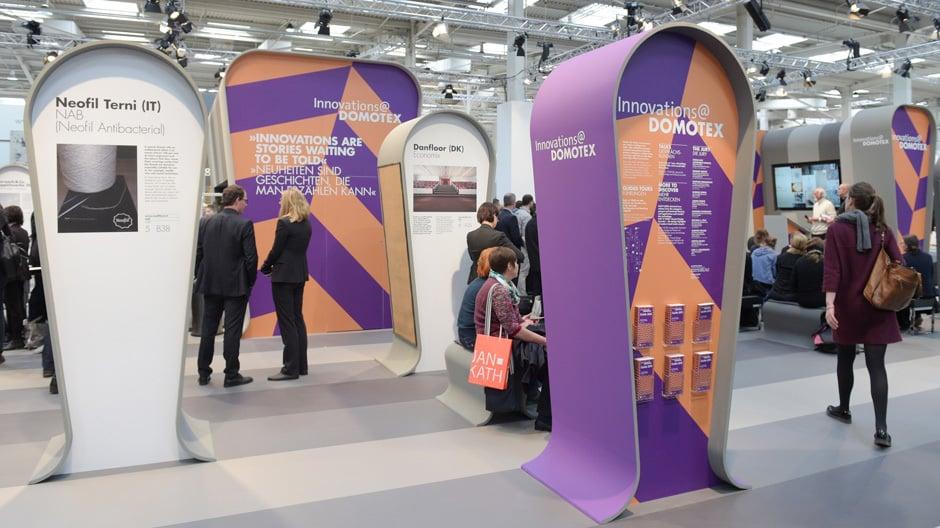 Die Sonderflächen der Domotex 2015. Fotos: Deutsche Messe AG