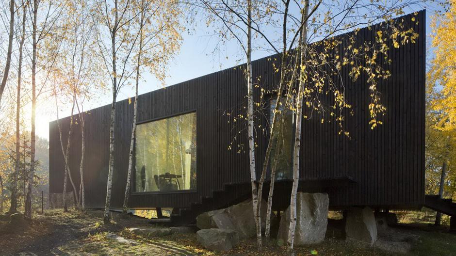 Die Architekten konzipierten das Gebäude als Prototypen für ein vollständig demontierbares Do it yourself-Wohnhaus.
