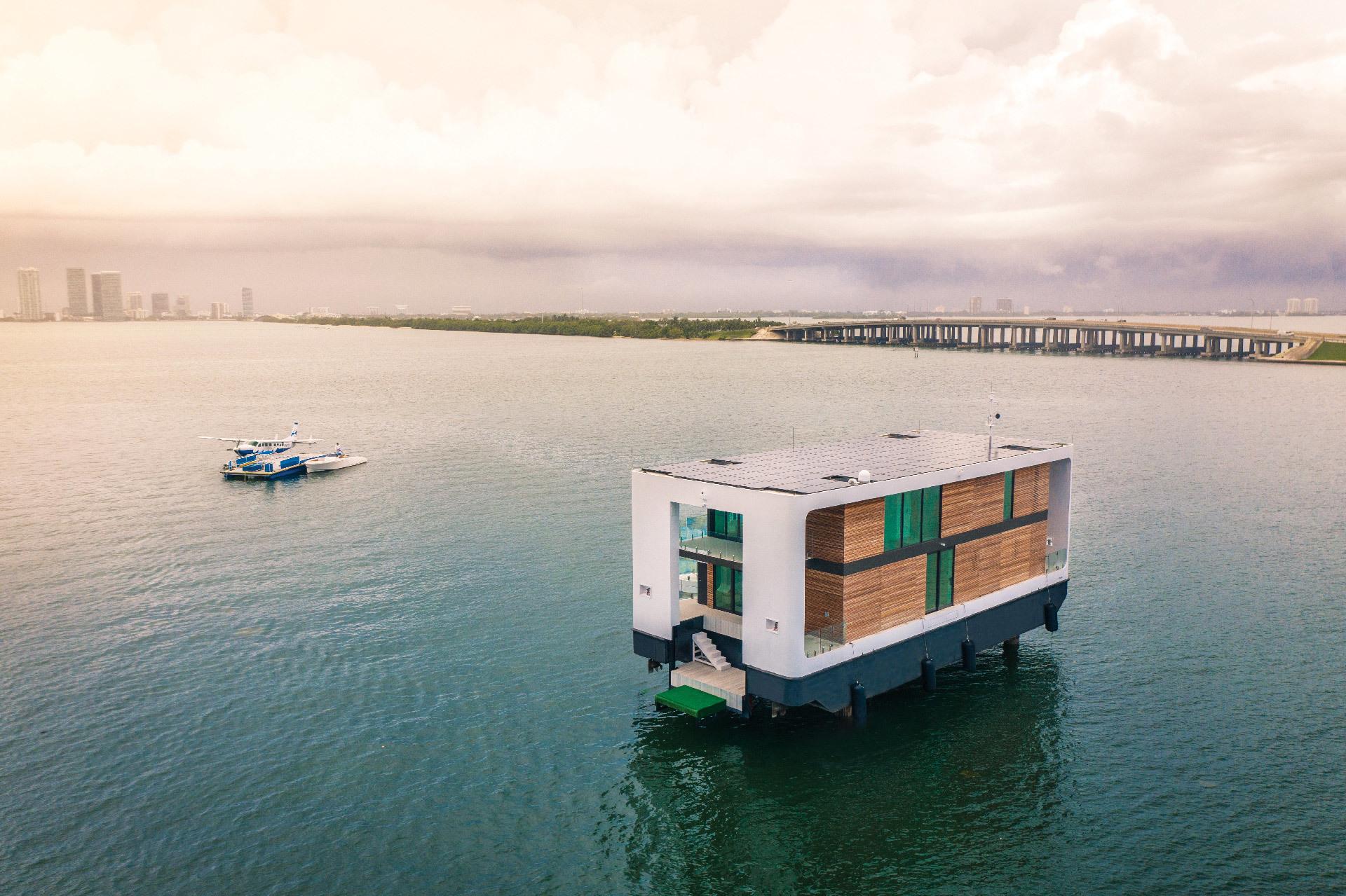 Der Entwurf Arkup wurde von Koen Olthuis als bewegliches Zuhause in Florida entwickelt. Architekt: Koen Olthuis - Waterstudio.NL