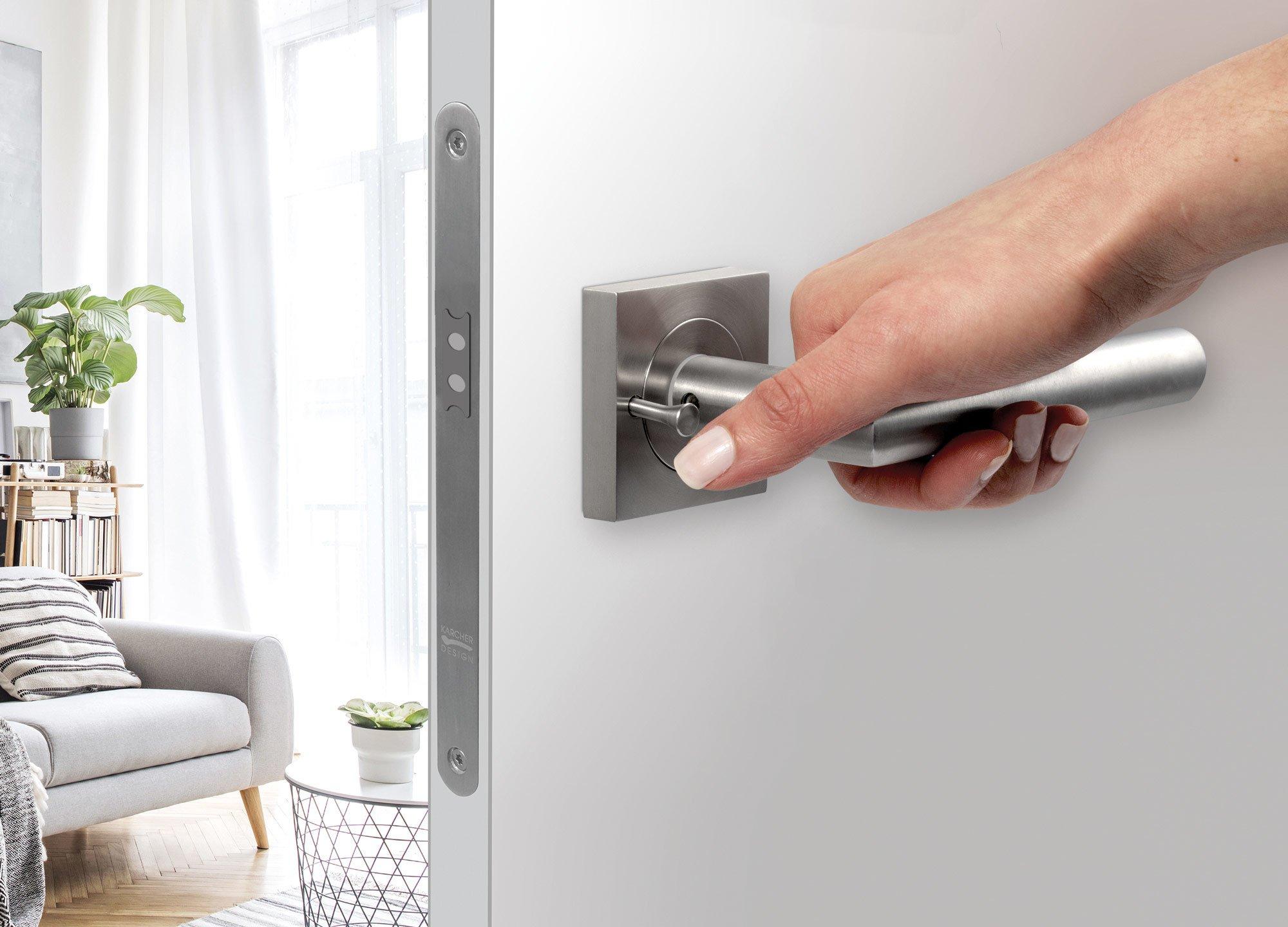 Rhodos ER28 in Edelstahl matt mit intergrierter Privacy-Pin-Technologie KD Comfort