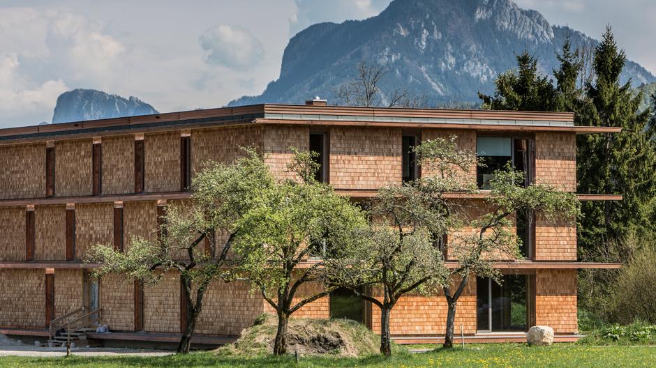 Mitten in der Natur baute das Thalgauer Studio sps-architekten eindreigeschossiges Wohn- und Bürogebäude, das mehr Energie erzeugt, als es verbraucht.