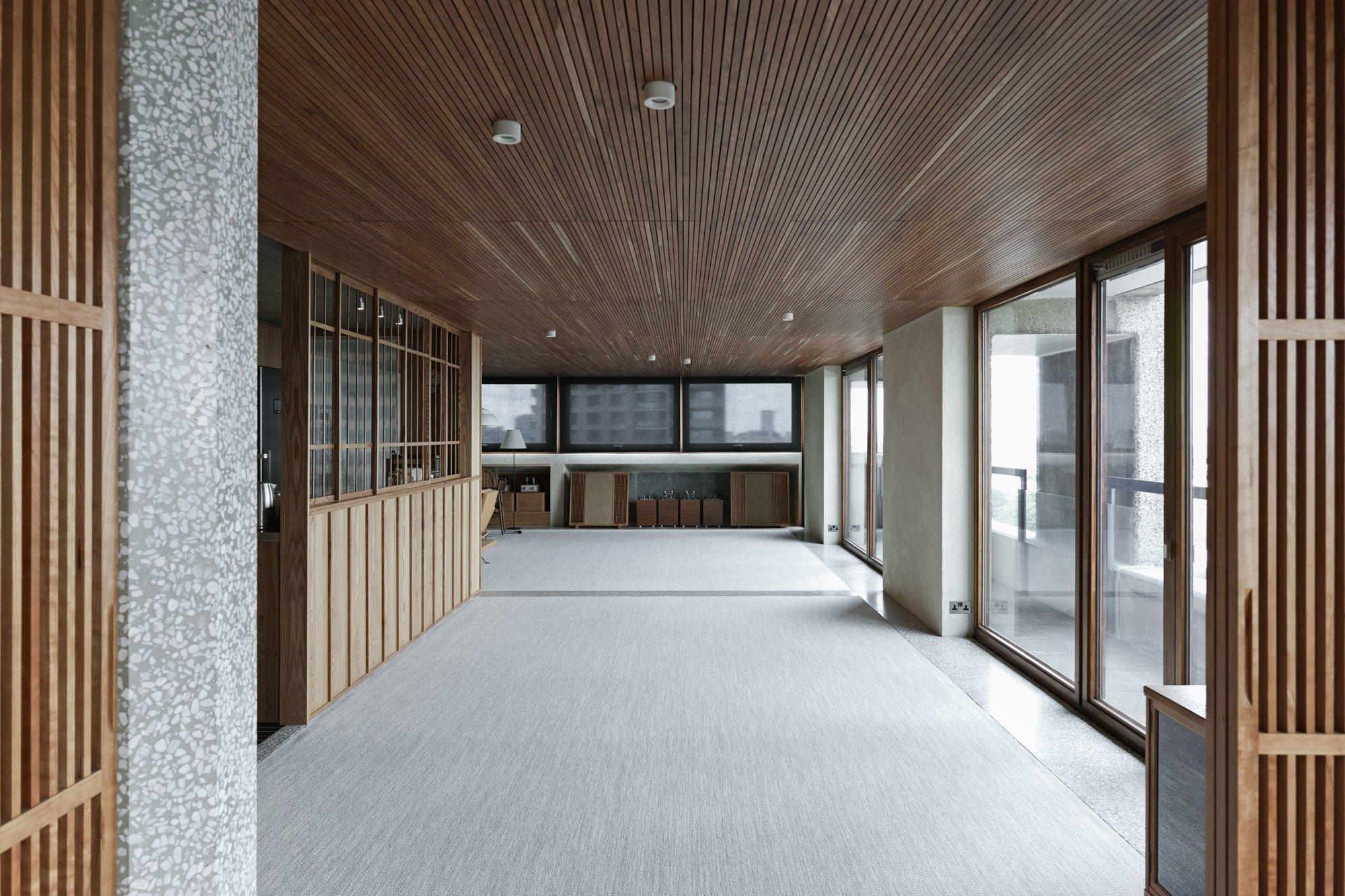 Die Auftraggeber wünschten sich ein Apartment mit typisch japanischen Charakteristiken.