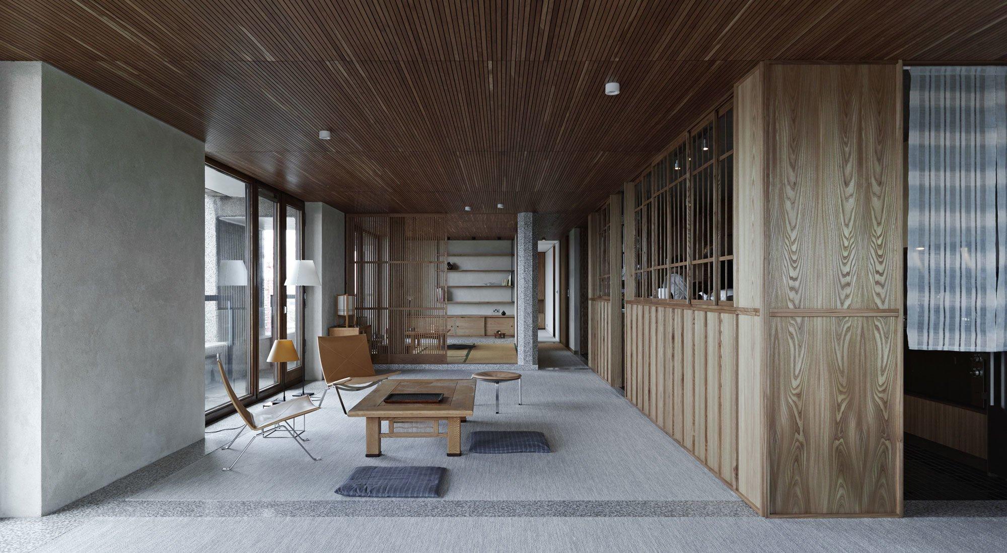Takero Shimazaki Architects gestalteten ein Apartment im Londoner Barbican-Komplex, das westliche und fernöstliche Konzepte harmonisch miteinander verwebt.