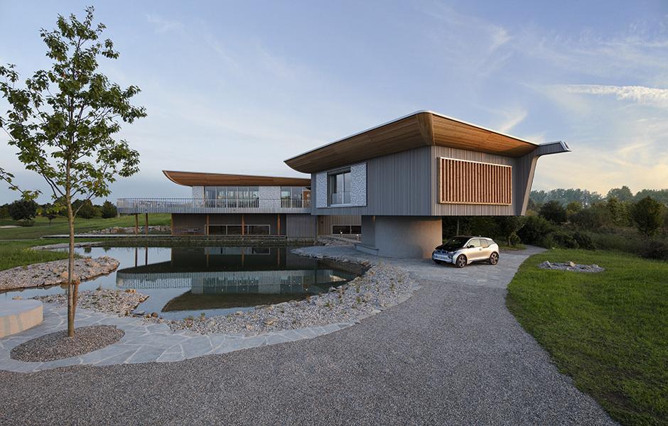 Das Fertighaus für Baufritz ist Häberlis erstes realisiertes Bauvorhaben.
