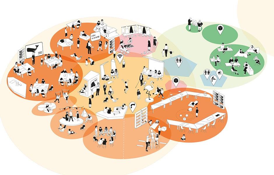 Schulraumqualitäten: Gruppenbereich, © Senat Berlin