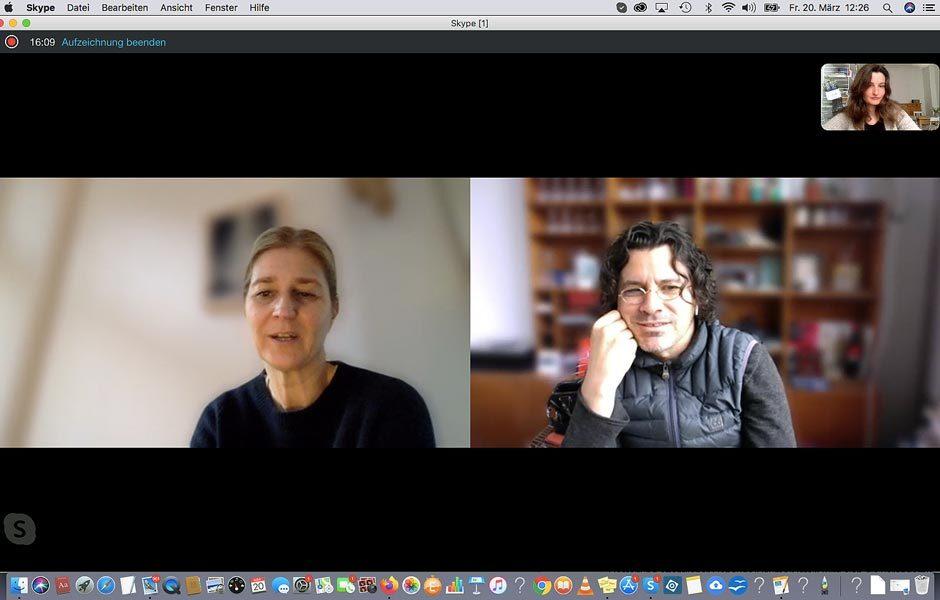 Im Skype-Gespräch mit Judith Haase und Pierre Jorge Gonzalez