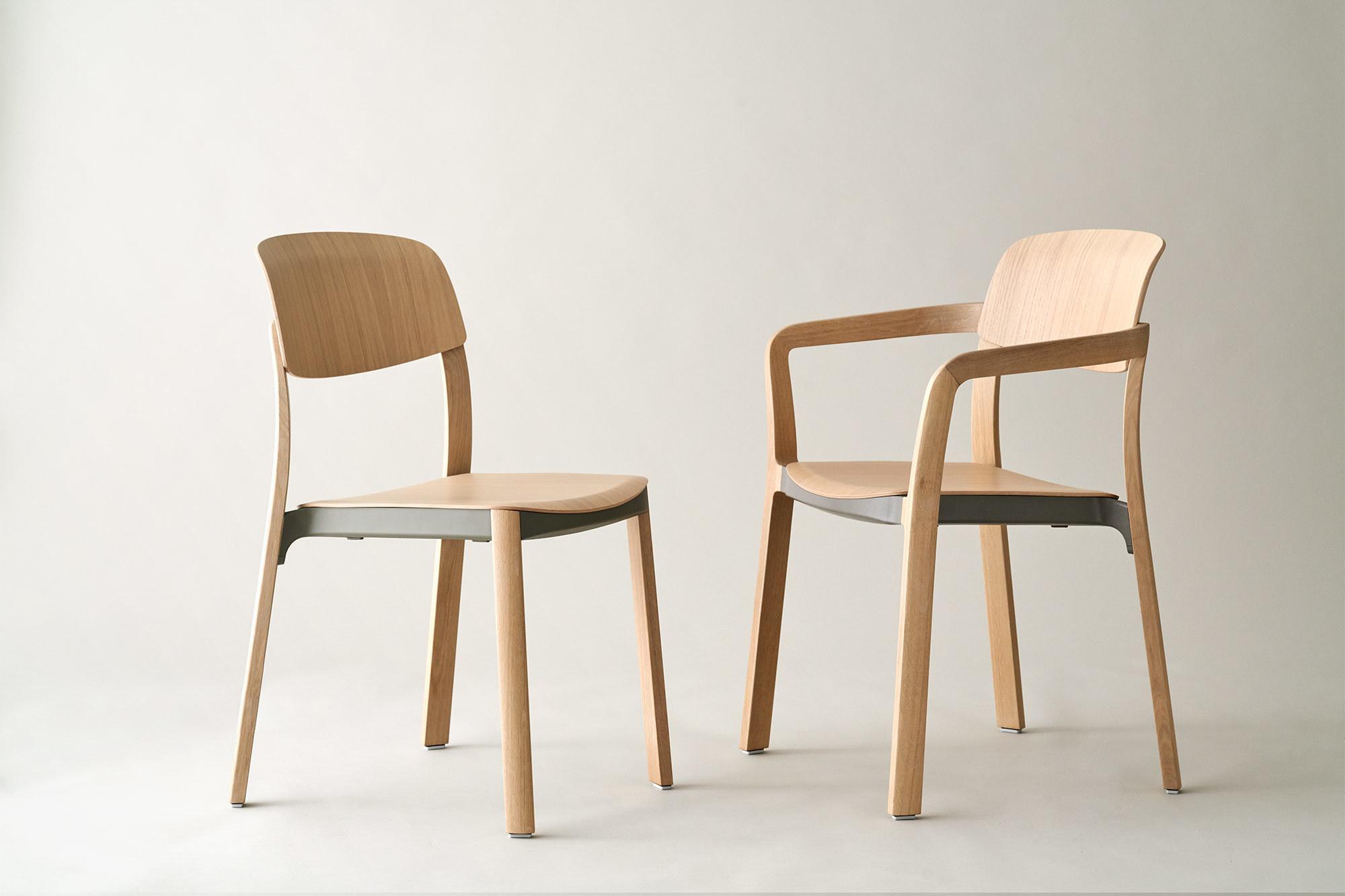 Atelier Steffen Kehrle entwarf Holzstuhl nate für den Möbelhersteller Brunner.