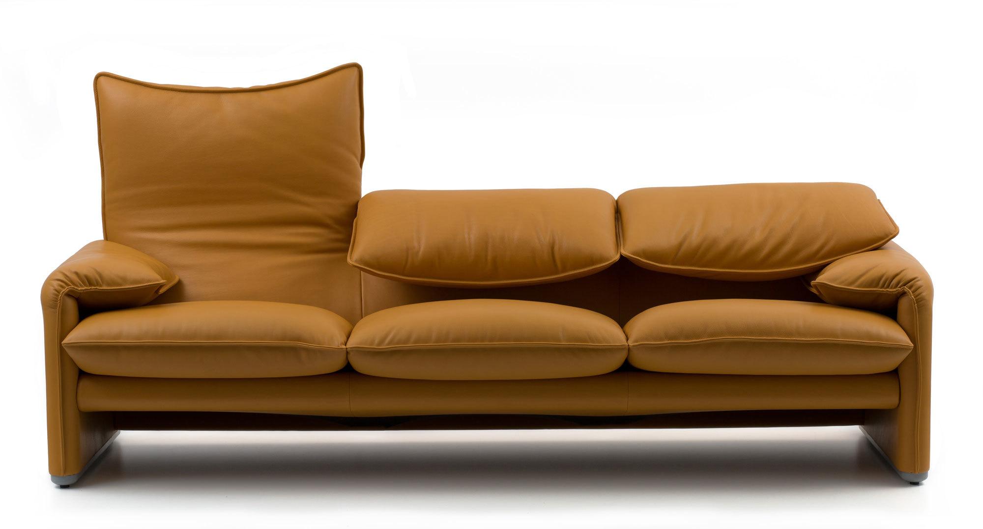 Seventies-Sofas Maralunga von Cassina. Gestalterischer Clou: die verstellbare Rückenlehne. Foto/ Copyright: Cassina