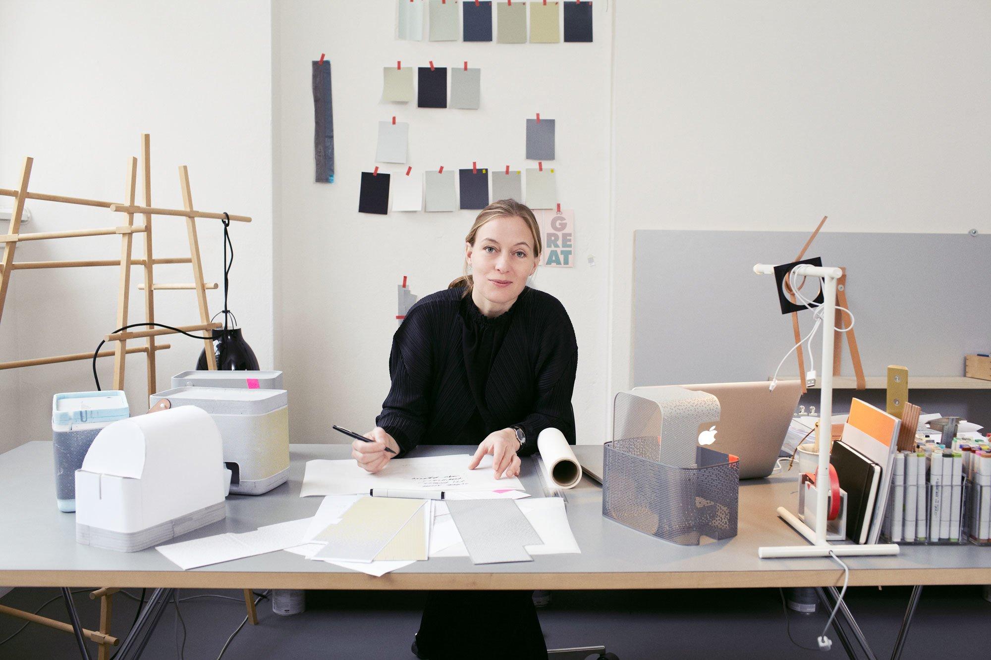 Cecilie Manz in ihrem Studio im Jahr 2012, Foto: Cecilie Manz Studio