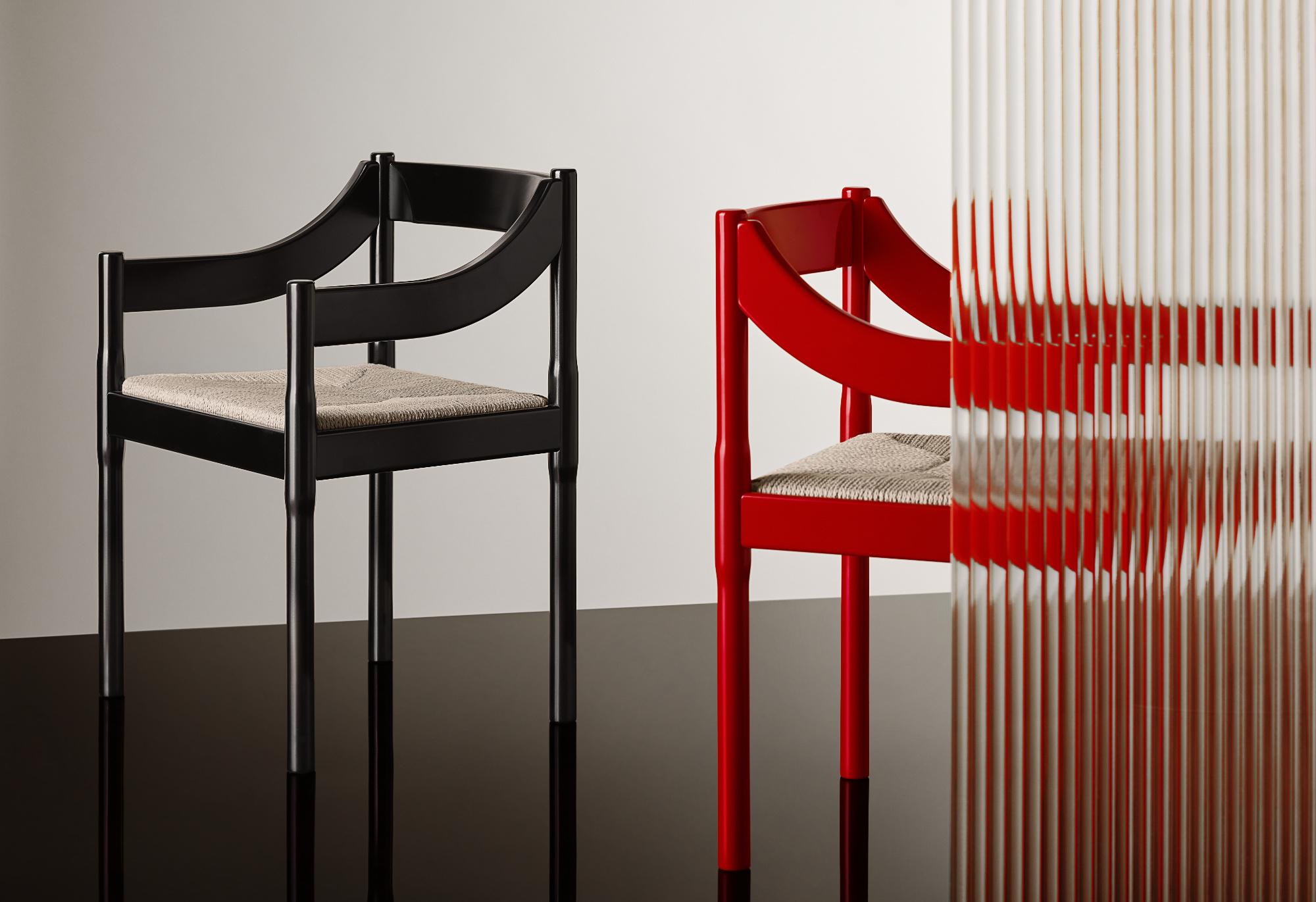 Zum Jubiläum des italienischen Architekten produziert Fritz Hansen den Stuhl Carimate.