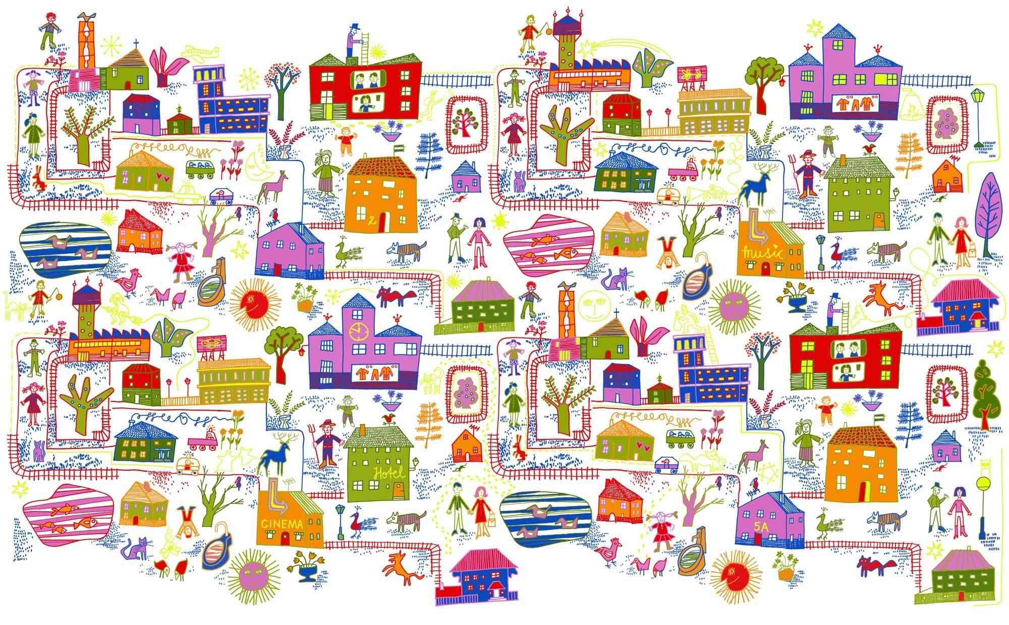 Curtain Collection Village für Kvadrat, 2008