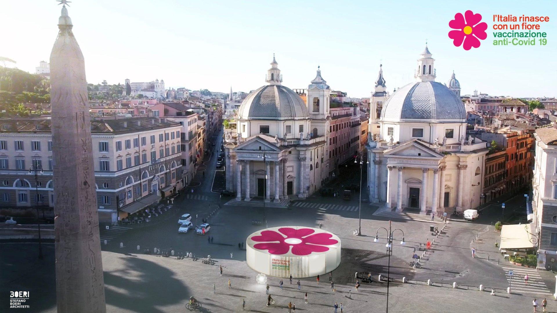 Anti-Covid-19-Impfstationen für Italien, 2020-2021. Rendering: Stefano Boeri Architetti