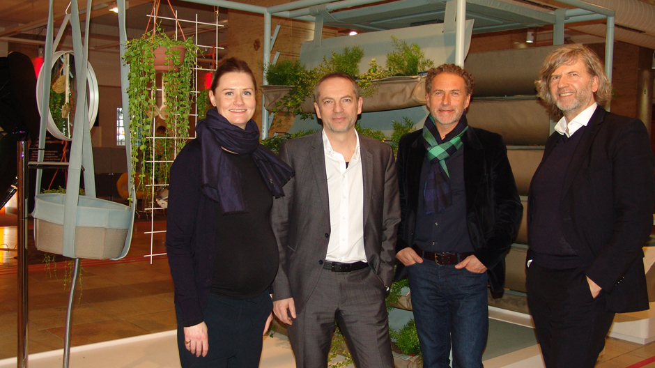 Moderatorin Katharina Altemeier, Bernd Eigenstetter, Werner Aisslinger und Stefan Hoske. Foto: Axor