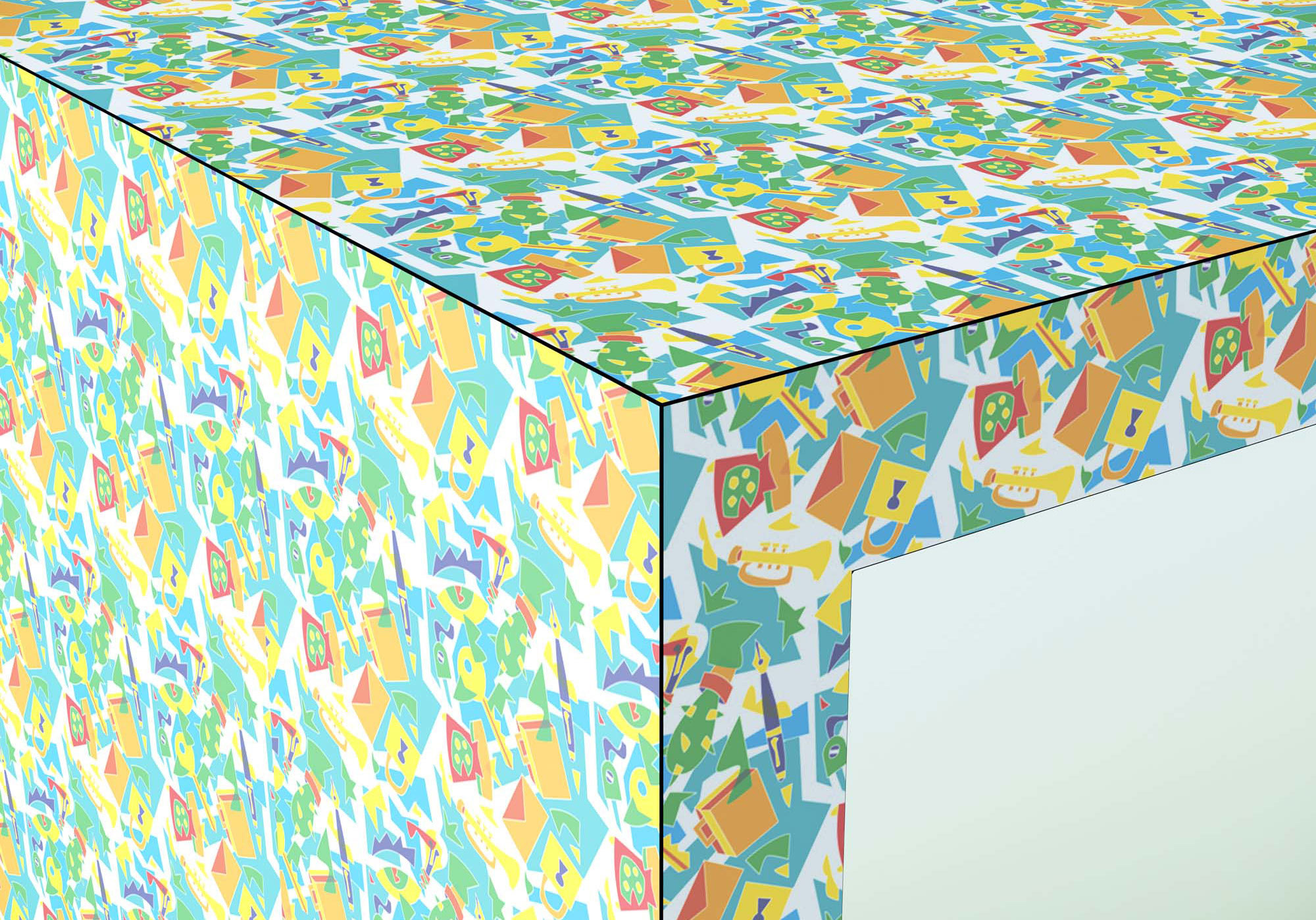 Tisch Febo von Ugo Nespolo, Foto: De Rosso
