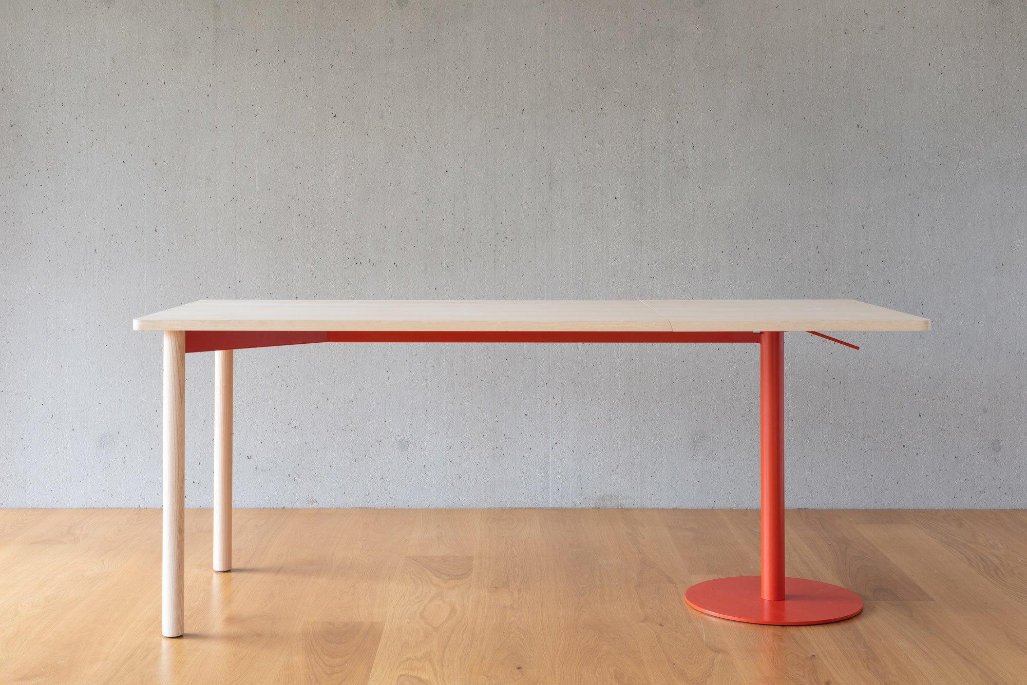 Tisch Emineo, Charlotte Krzentowski, ECAL Ecole cantonale d'art de Lausanne, Foto: Olivia Dall'Omo